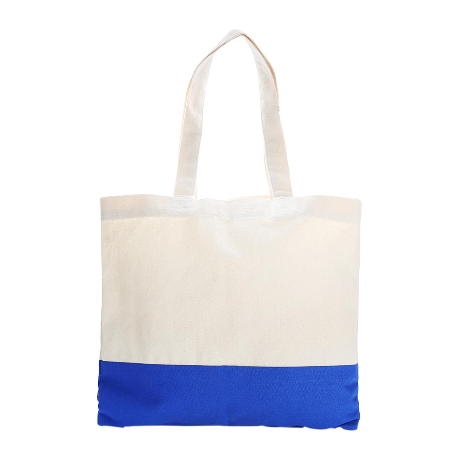 eb6919d6d5df AxacGift Apdox Two - Tone Canvas Tote Bag (Blue)