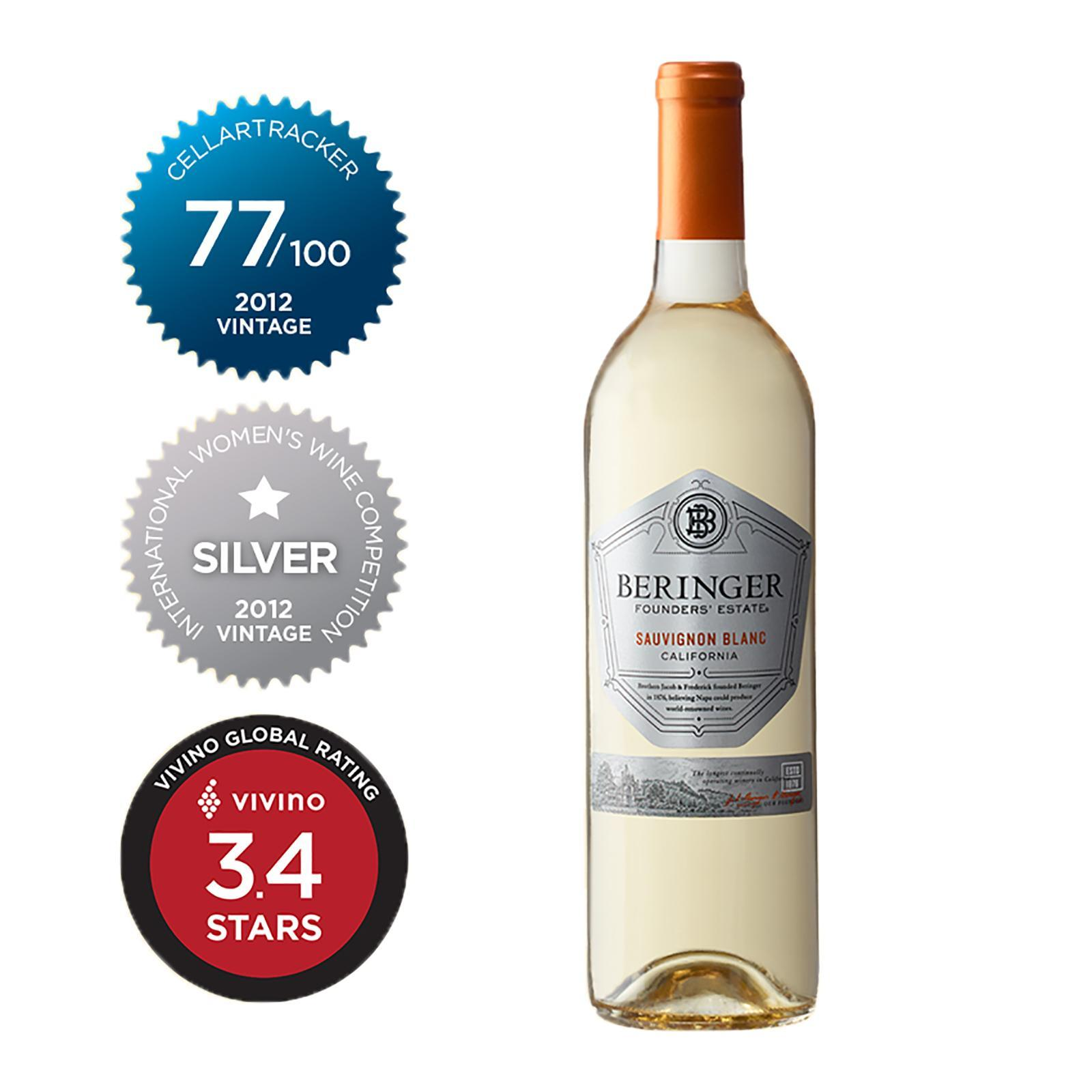 Beringer Sauvignon Blanc Founders Pineapple Flavour - By Wine Collection