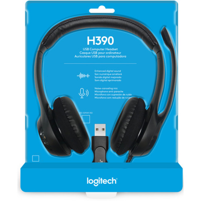 LOGITECH H340 USB DIGITAL STEREO HEADSET NOISE CANCELLING MIC Singapore
