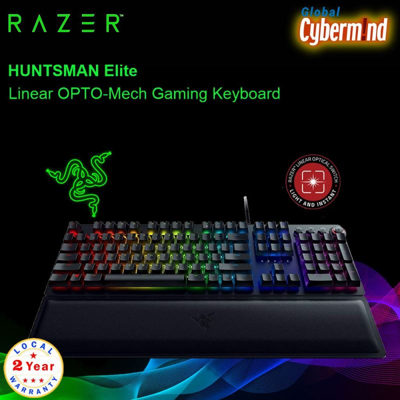 Razer Huntsman Elite OPTO Mechanical Gaming KB Linear ( Brought to you by Cybermind ) Singapore