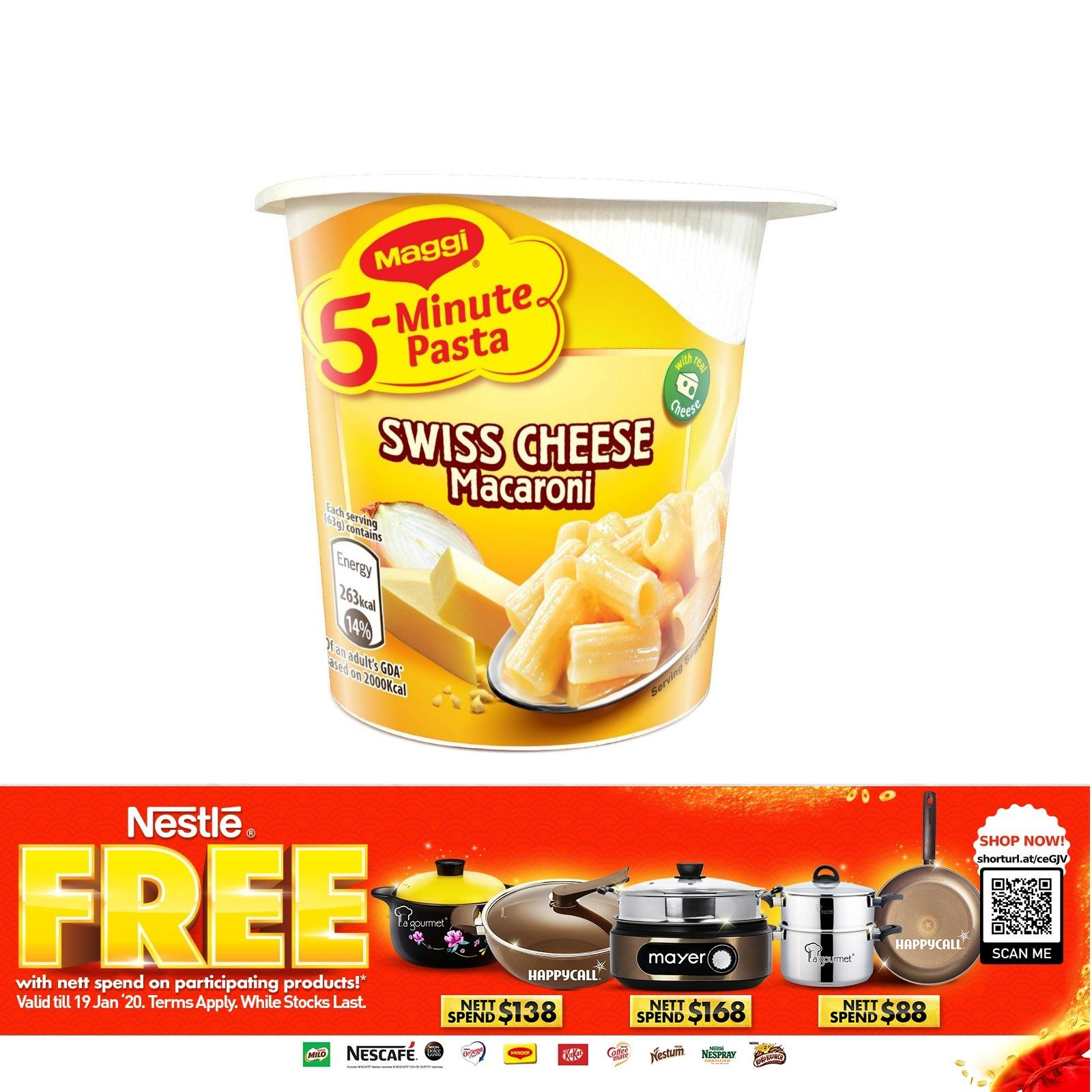 Maggi 5-Minute Instant Cup Pasta - Swiss Cheese Macaroni