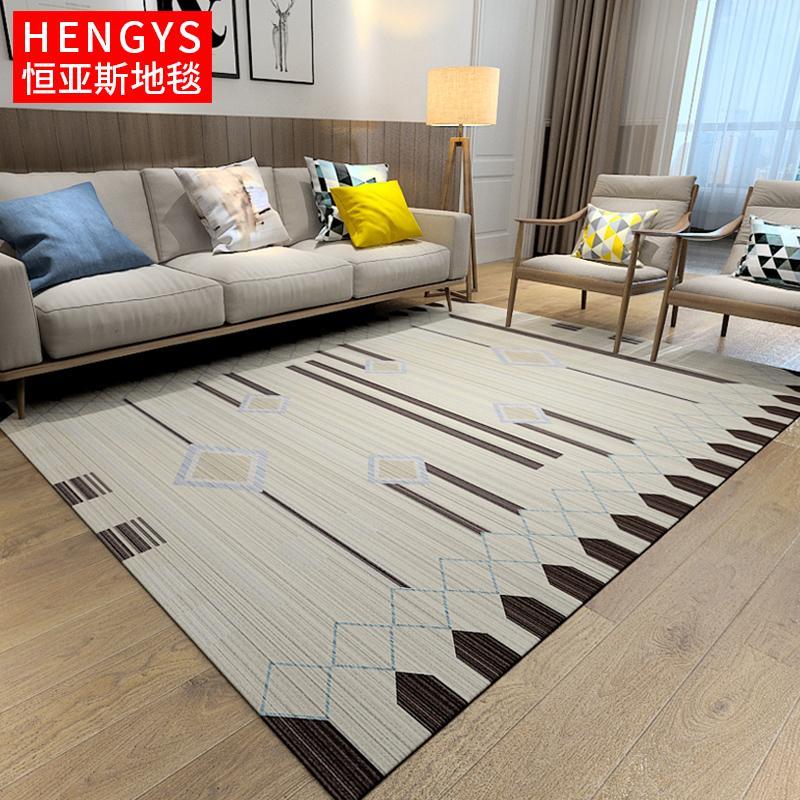 Rug Bedroom Wall-to-Wall Cute Room Bedside Nordic Minimalist Table Carpet Geometry Mat Home Living Room Big European Style
