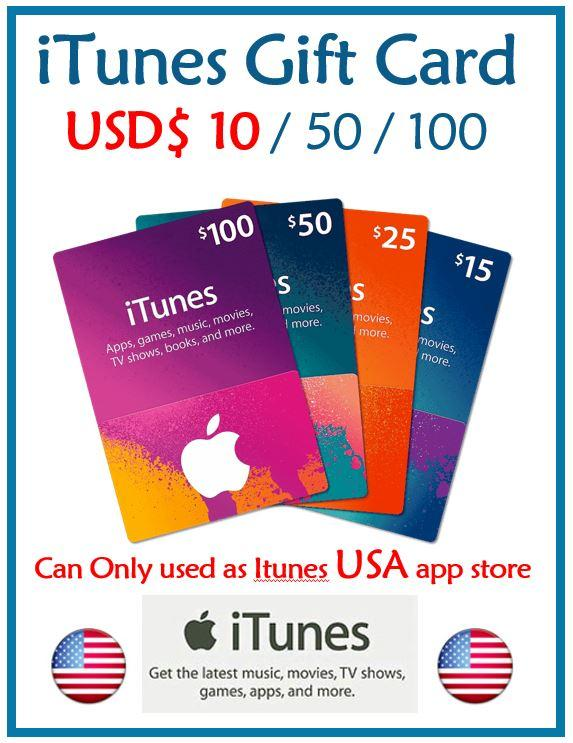 iTunes USD 10 Gift Cards (10USD)