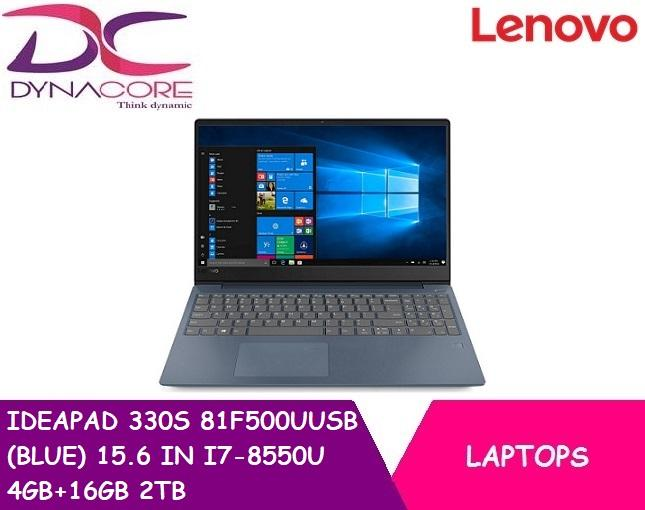 LENOVO IDEAPAD 330S 81F500UUSB (BLUE) 15.6 IN INTEL CORE I7-8550U 4GB+16GB 2TB WIN 10