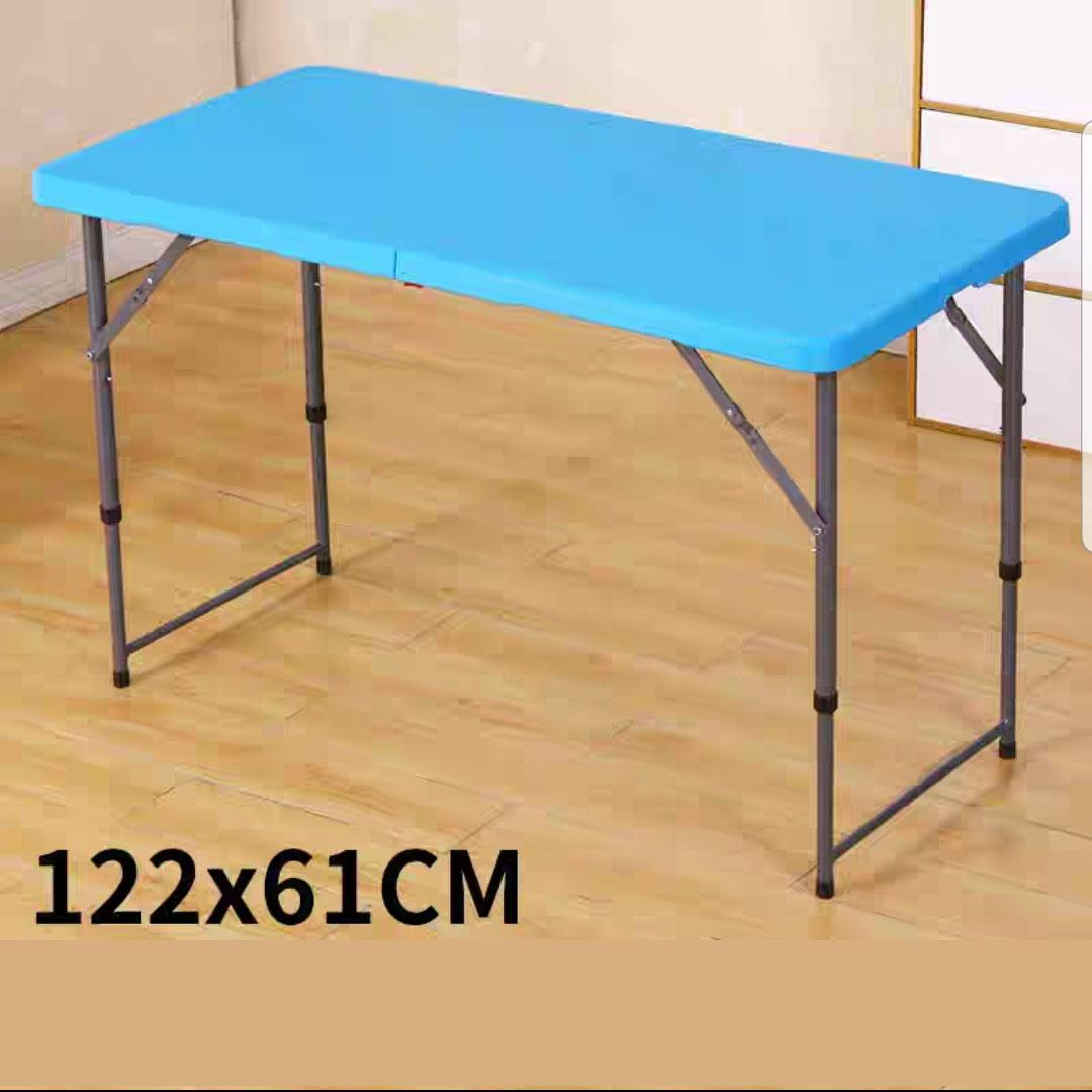 Foldable Table HDPE Portable Super Heavy Duty Strong Stable 120*60 cm