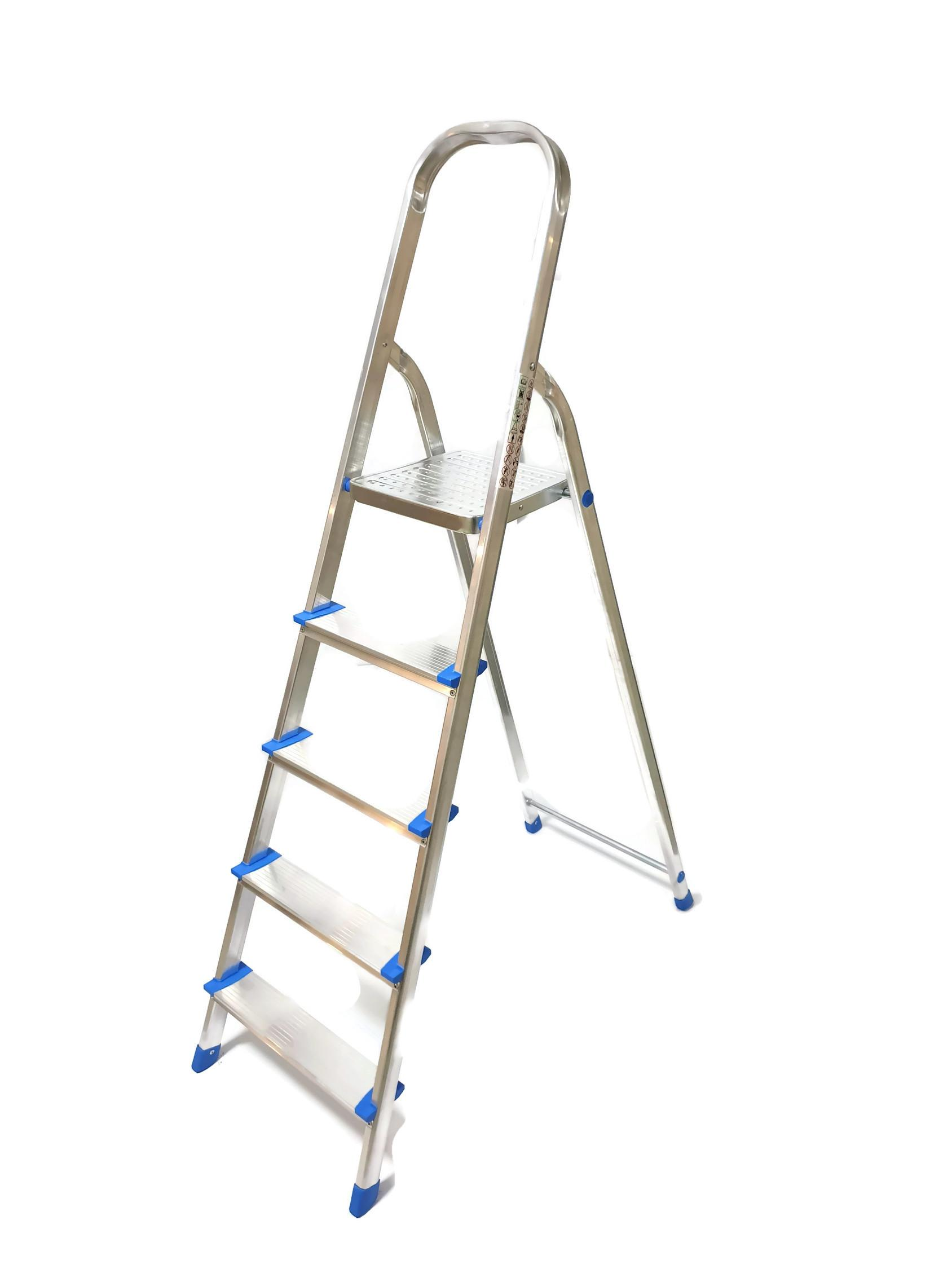Winsir Aluminium Household 5 Steps Ladder