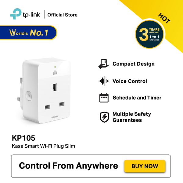 TP-LINK Kasa Smart Wi-Fi Plug Slim KP105 (Works with Alexa, Google Home & Bixby)
