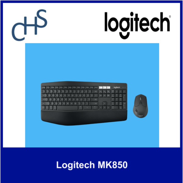 (Original) Logitech MK850 | Bluetooth | Windows 10 or later, Windows 8 Mac OS X 10.10 or later Chrome OS | 1 year warranty Singapore