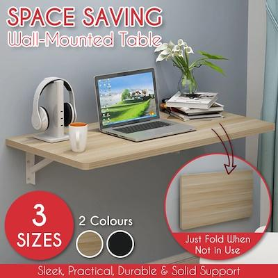 Space-saving Foldable Wall Table / Efficient Study Furniture Living Bedroom Kitchen