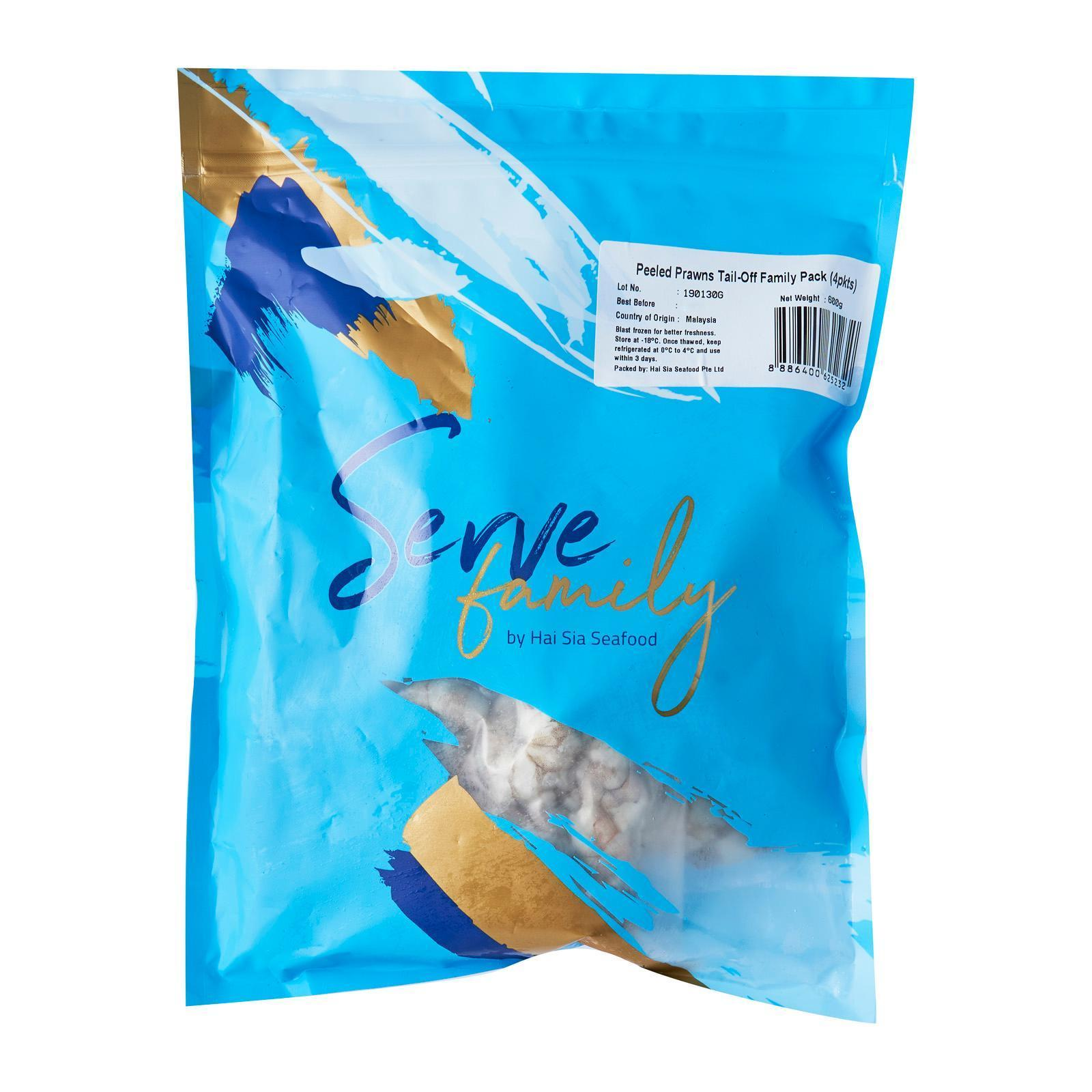 Serve by Hai Sia Seafood Peeled Prawns Tail-Off Family Pack - Frozen