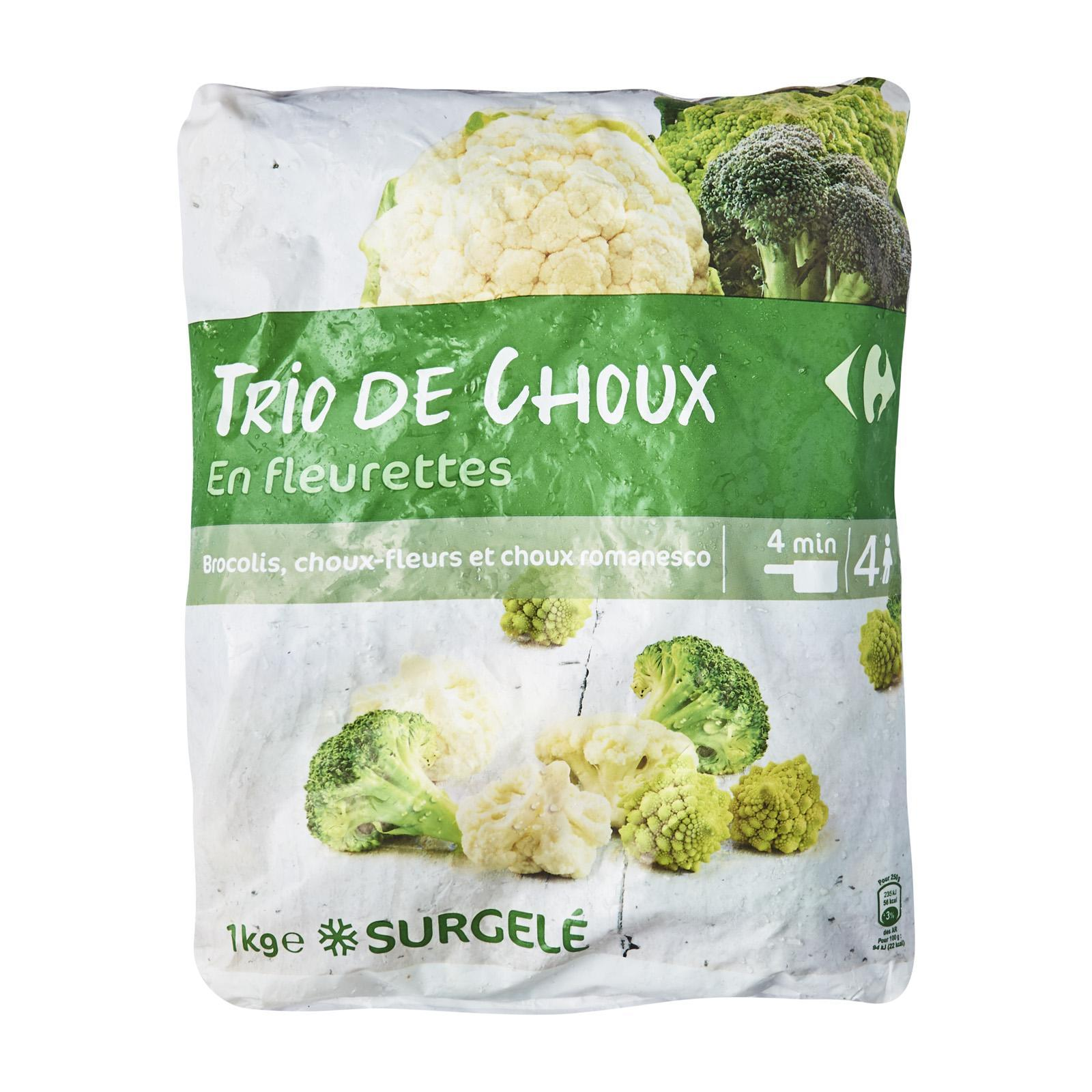 Carrefour Mix Of Cabbages In Florets - Frozen - By Le Petit Depot By Redmart.