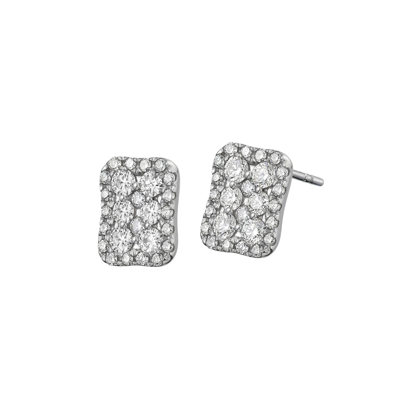 Goldheart Glitz Diamond 14k White Gold Earrings.