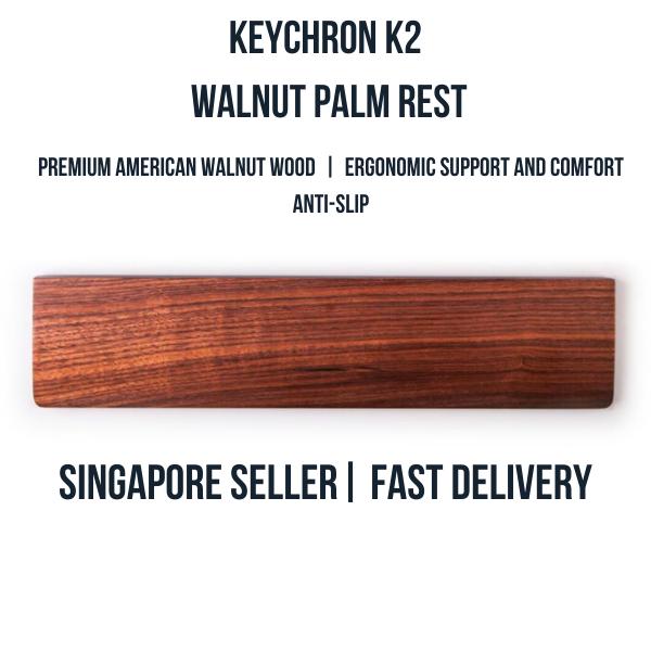Keychron K2 / K6 Walnut Wood Palm Rest