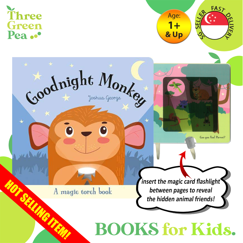 Goodnight Monkey Magic Torchlight Interactive Board Book Children Books Bedtime Story