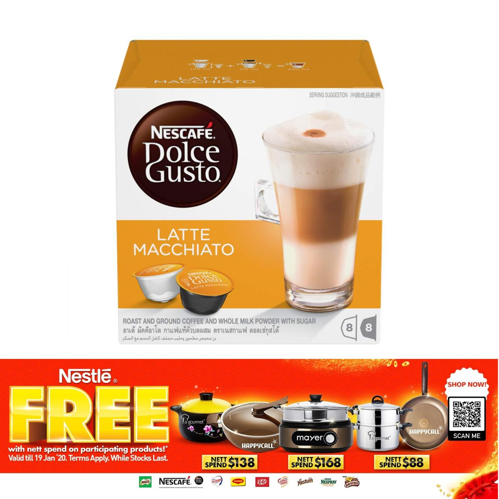 NESCAFE Dolce Gusto Latte Macchiato Capsules 8S/8S