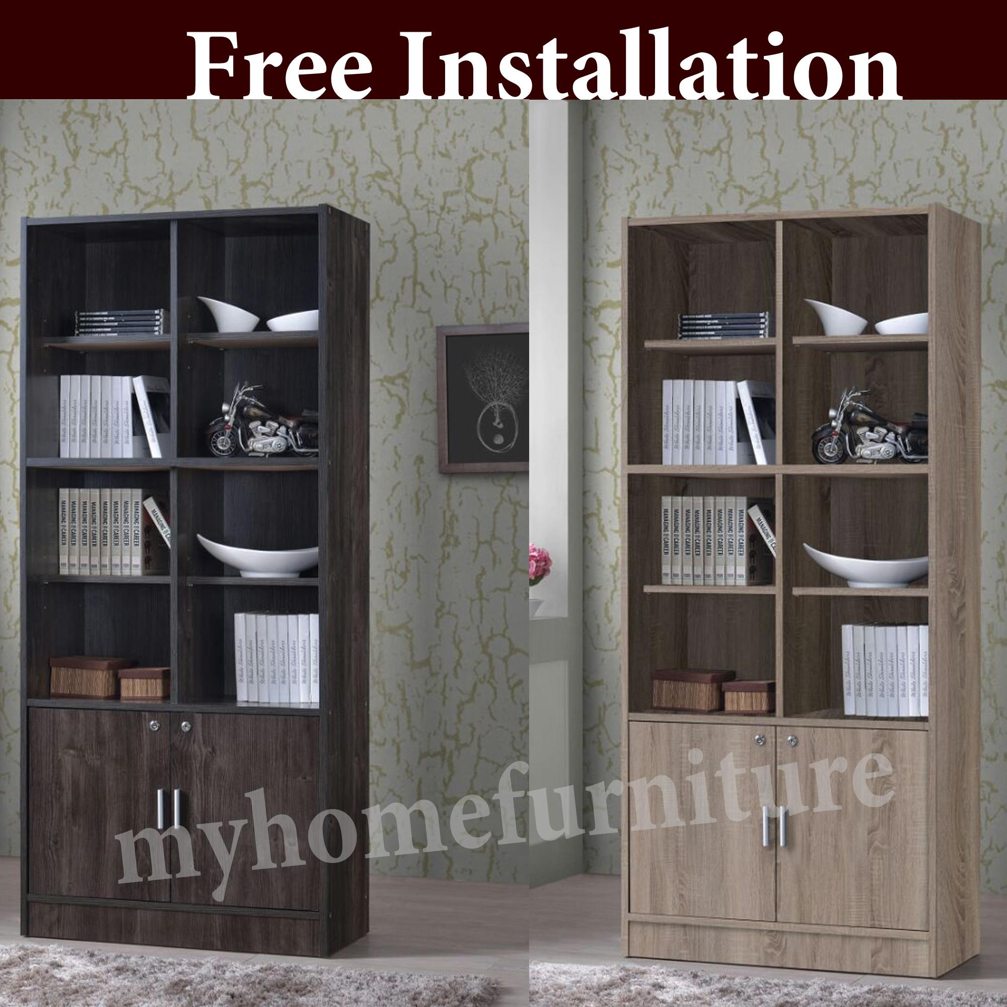 Hugh Bookshelf / Display Cabinet / Divider / Cabinet / Filling Cabinet (Free Installation)