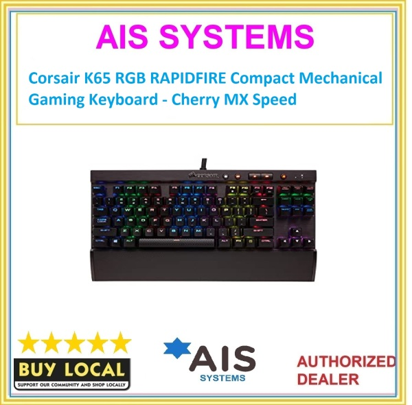 Corsair K65 RGB RAPIDFIRE Compact Mechanical Gaming Keyboard - Cherry MX Speed Singapore