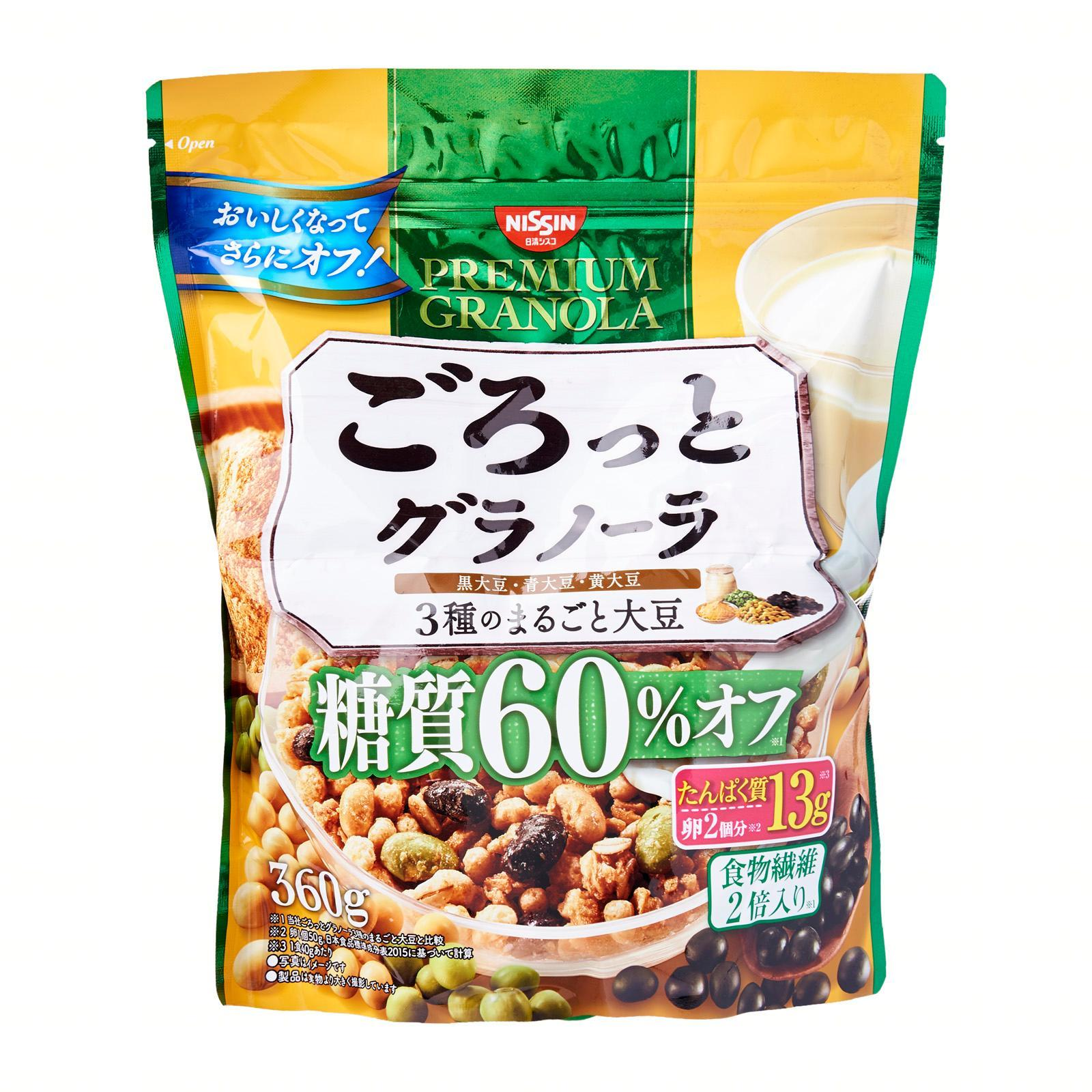 Nissin Gorotto Sugar 60 Percent Off Soybean Flavour Granola