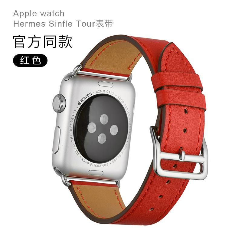 Application Apple Watch Strap Leather Fashion Iwatch3 Watch Strap Men And Women 38/42 Mm40 Hermes Parfums Iphone Watch1 S 2 S 3 S 4 S 44 Apple Watch Leather Silica Gel.