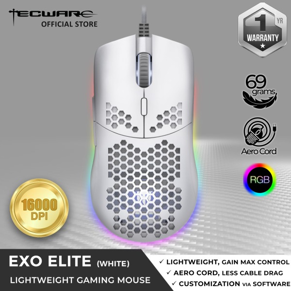 Tecware EXO Elite, Lightweight Gaming Mouse, 69g, 16000DPI