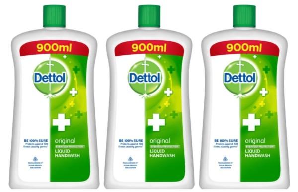 Buy DETTOL (Bundle of 3) Handwash Original Refill Bottle 900ml Singapore