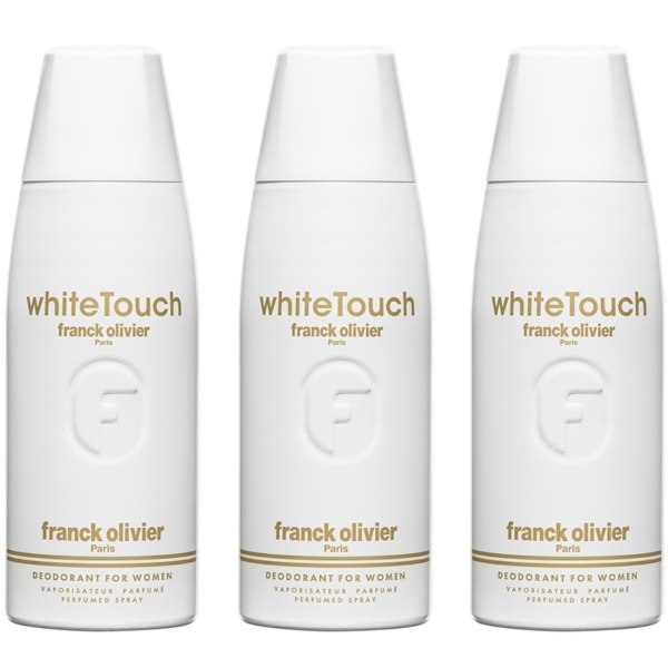 Buy (BUNDLE OF 3) FRANCK OLIVIER WHITE TOUCH DEODORANT SPRAY FOR WOMEN 250ML - BEAUTY LANGUAGE Singapore