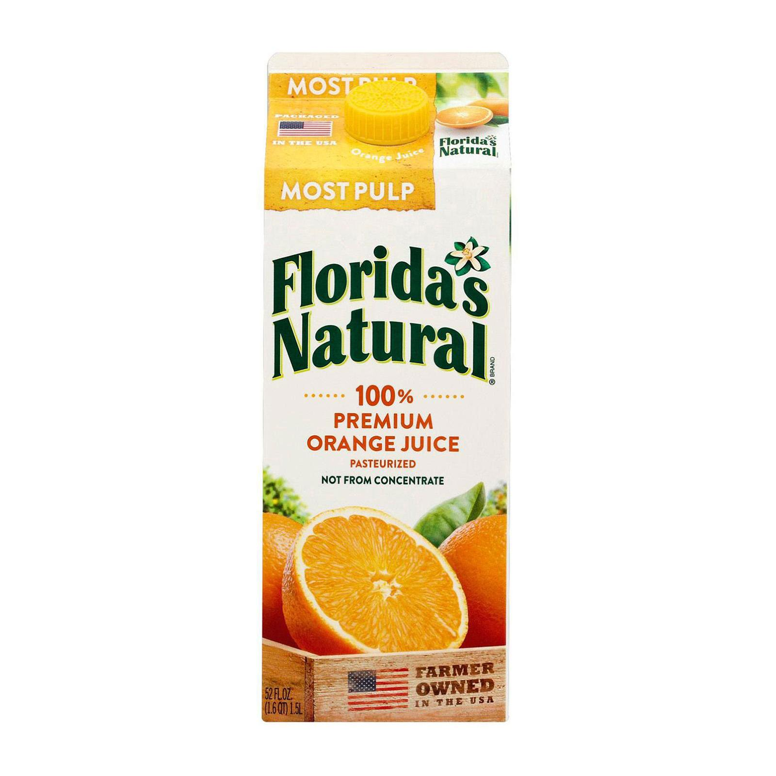 Florida's Natural NFC Growers Style (Most Pulp) Orange Juice