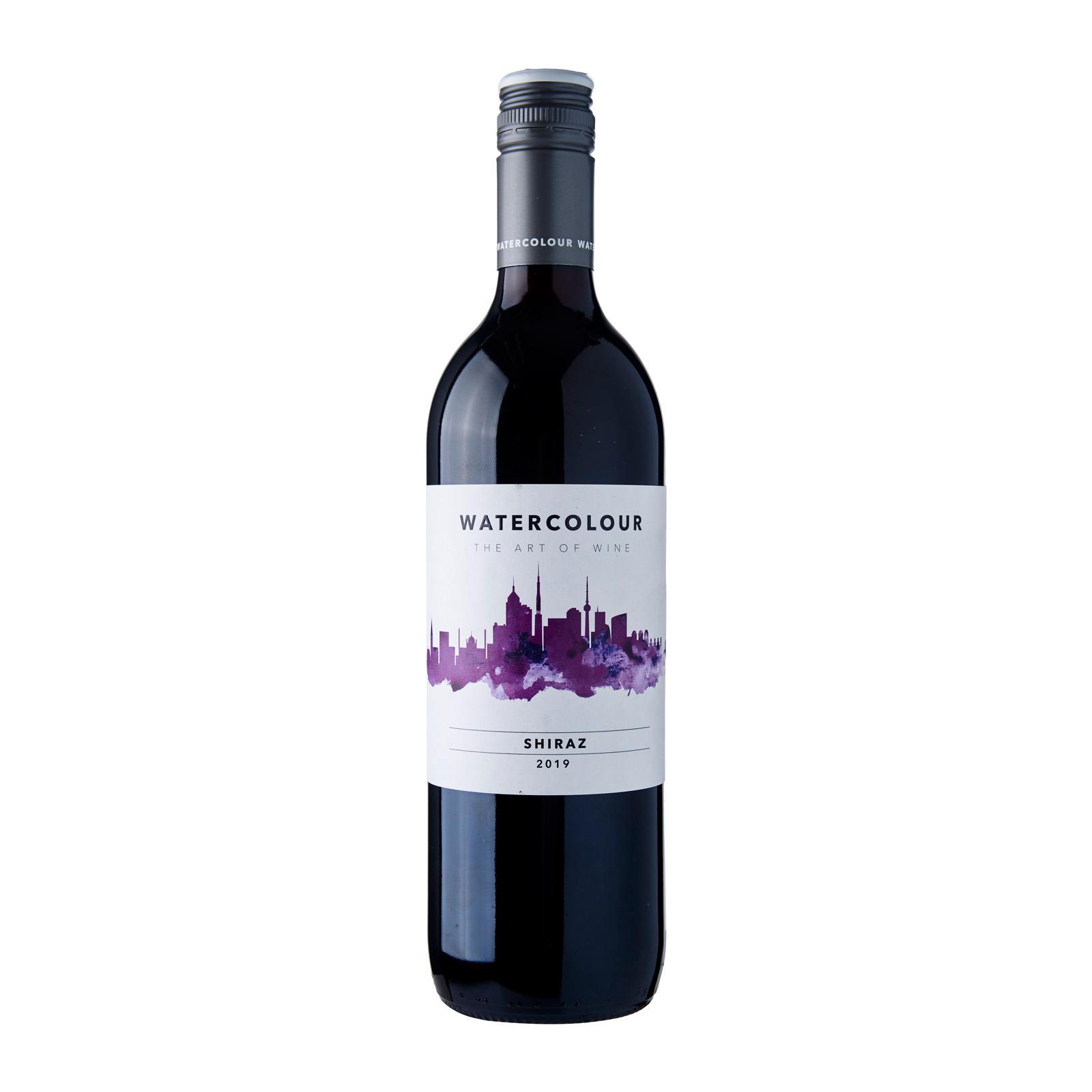 Watercolour Shiraz Red Wine Australia