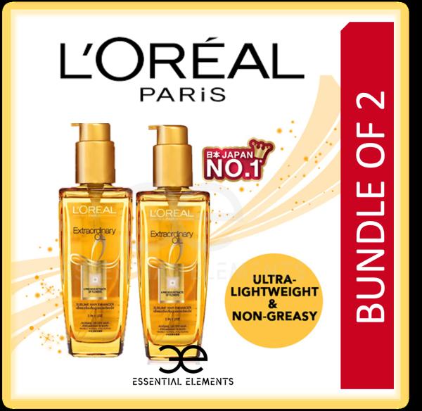 Buy LOreal [BUNDLE OF 2] Paris Elseve Extraordinary Hair Oil Gold 100ml|Loreal Serum Essence Keratin|Coconut Oil Shine Singapore