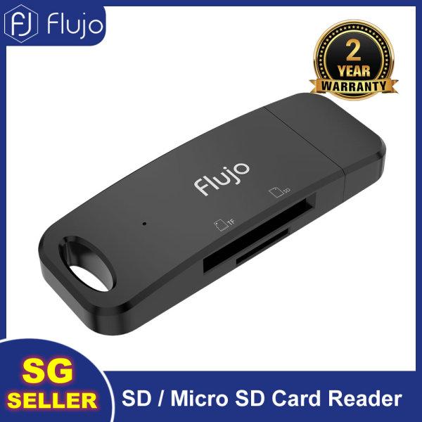 Flujo USB 3.0 SD Card Reader Mini 5Gbps Black Fast Speed Convenient 2 in 1 SD/TF Multi Smart Card Reader for Windows XP/Vista/7/8/8.1/10, Mac OS, Linux, System