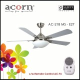 Price Acorn Ac 218 Ventilateur E27 42 Decorative Ceiling Fan C W Remote Control Matt Silver Acorn