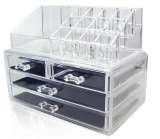 Type C Big Series Stackable Acrylic Cosmetic Organizer Clear Transparent Makeup Organiser Jewelry Storage Box Drawer Lipstick Brush Holder Nail Varnish Polish Case Container Shop