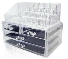 Latest Type C Big Series Stackable Acrylic Cosmetic Organizer Clear Transparent Makeup Organiser Jewelry Storage Box Drawer Lipstick Brush Holder Nail Varnish Polish Case Container