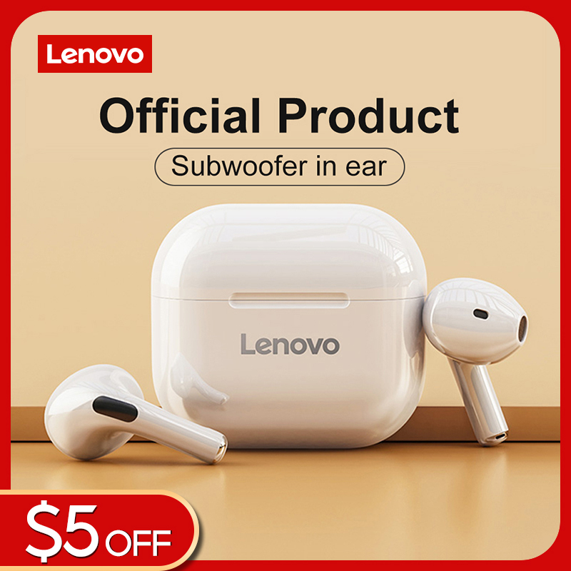 Lenovo LP40 TWS Bluetooth Earphone Brand Quality Mini Wireless Earbuds Sport Gaming Bluetooth Headset with Mic Support Call Video IOS Android Universal Singapore