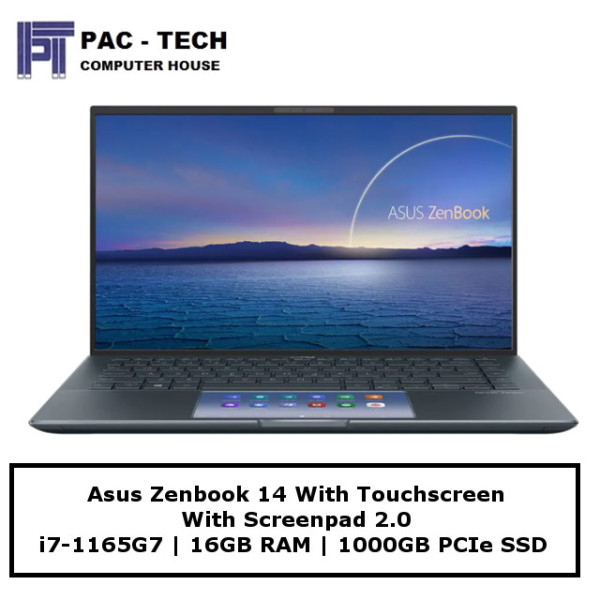 Asus Zenbook 14 UX435EG-AI016T Screenpad 2.0 | 14 Touchscreen | i7-1165G7 | 16GB | 1TB SSD | MX450 2GB | Windows 10