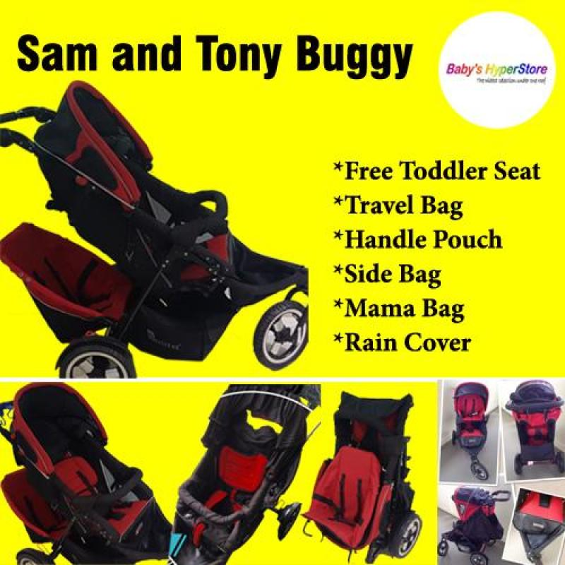 Sam and Tony Buggy ★ Free Toddler Seat ★ Travel Bag ★ Handle Pouch ★ Side Bag ★ Mama Bag ★Rain Cover Singapore