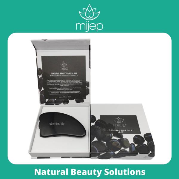 Buy Black Obsidian Gua Sha - (Leaf Shape) Stunning Premium Quality Natural Stone Facial GuaSha, Face Massager Tool. Traditional Crystal Facial Scraping Tool (Jade Roller Alternative) Singapore