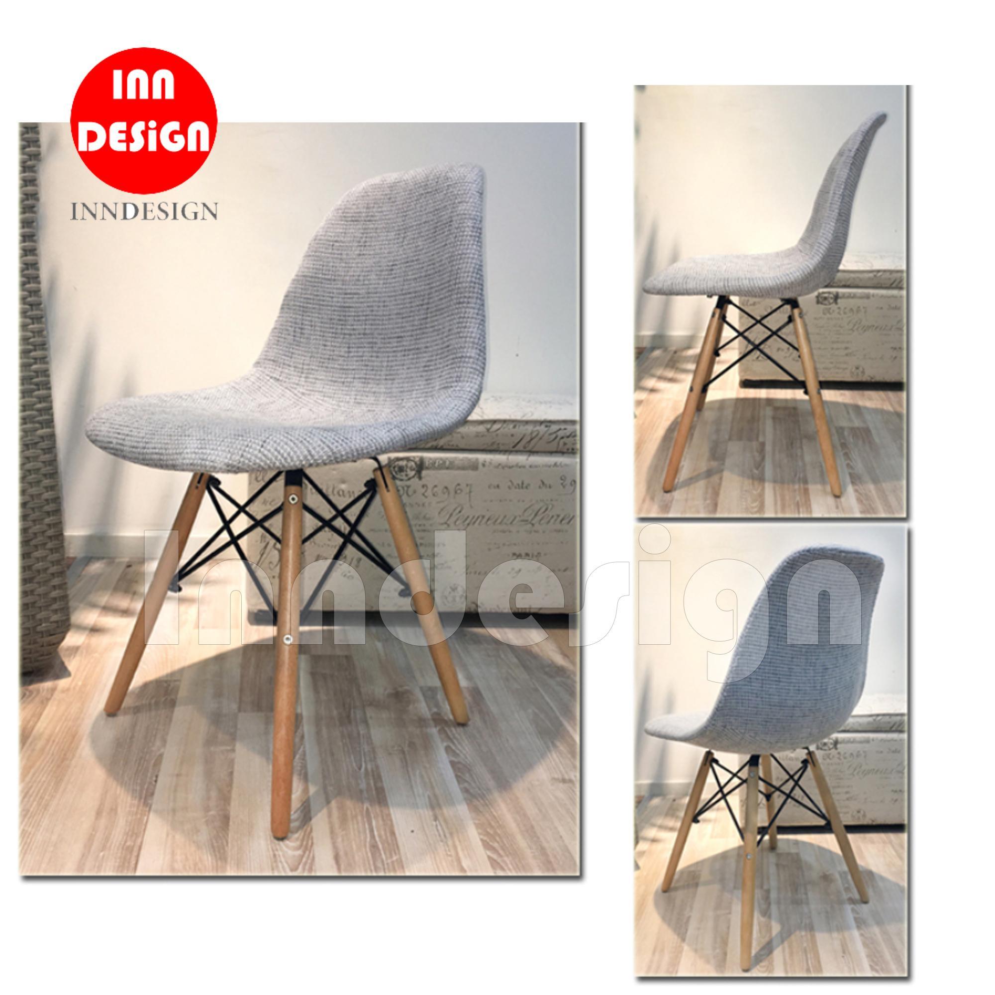 Eames Gray Cloth Chair / Dining Chair