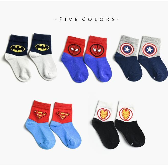 02a85040bbb Superhero Cartoon Children Socks (Bundle Pack of 5 Pairs)