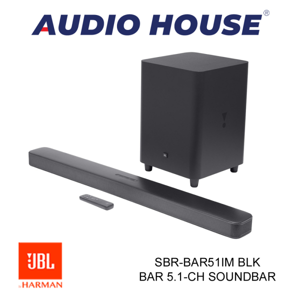 JBL SBR-BAR51IM BLK BAR 5.1-CH IMMERSIVE SOUNDBAR W/WIRELESS SUBWOOFER (BLACK) ***1 YEAR WARRANTY*** Singapore