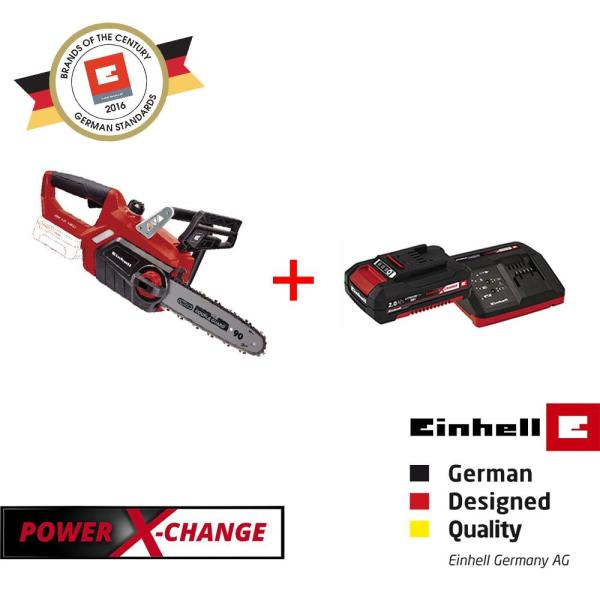 [BUNDLE SET] Einhell PXC Cordless Chain Saw [GE-LC 18 Li-Solo] + 2.0Ah Battery & Charger Set