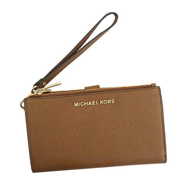 Authentic Michael Kors Jet Set Jet Set Travel Double Zip Wristlet Wallet Phone; #35F8GTVW0L