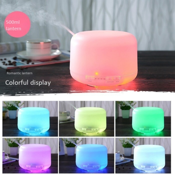 Air Humidifier 500ML Ultrasonic Cool Mist Lamp Electric 7 LED Color Singapore