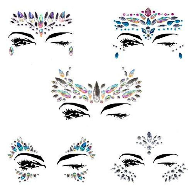 Buy MerryXD Face Gems Glitter - 10 Sets Women Mermaid Face Jewels with 6 Boxes Chunky Face Glitter, Crystals Face Stickers, Eyes Face Body Temporary Tattoos Fit for Festival Party Singapore