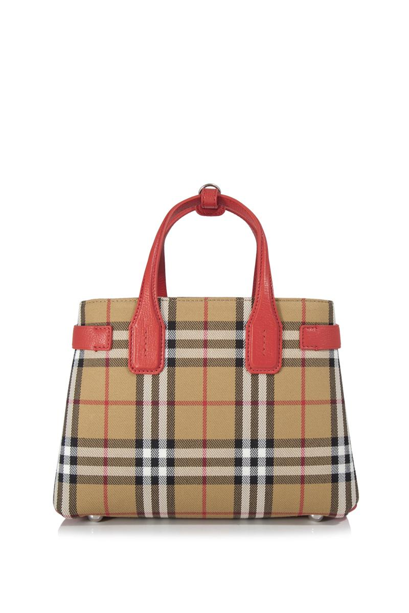 9ace1be32425 Burberry Vintage Check Small Banner Tote