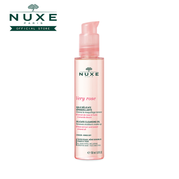 Buy NUXE Very Rose Cleansing Delicate Cleansing Oil (150ml) with Rose extract & Sweet Almond oil [All Skin Type, Sensitive Skin] Singapore
