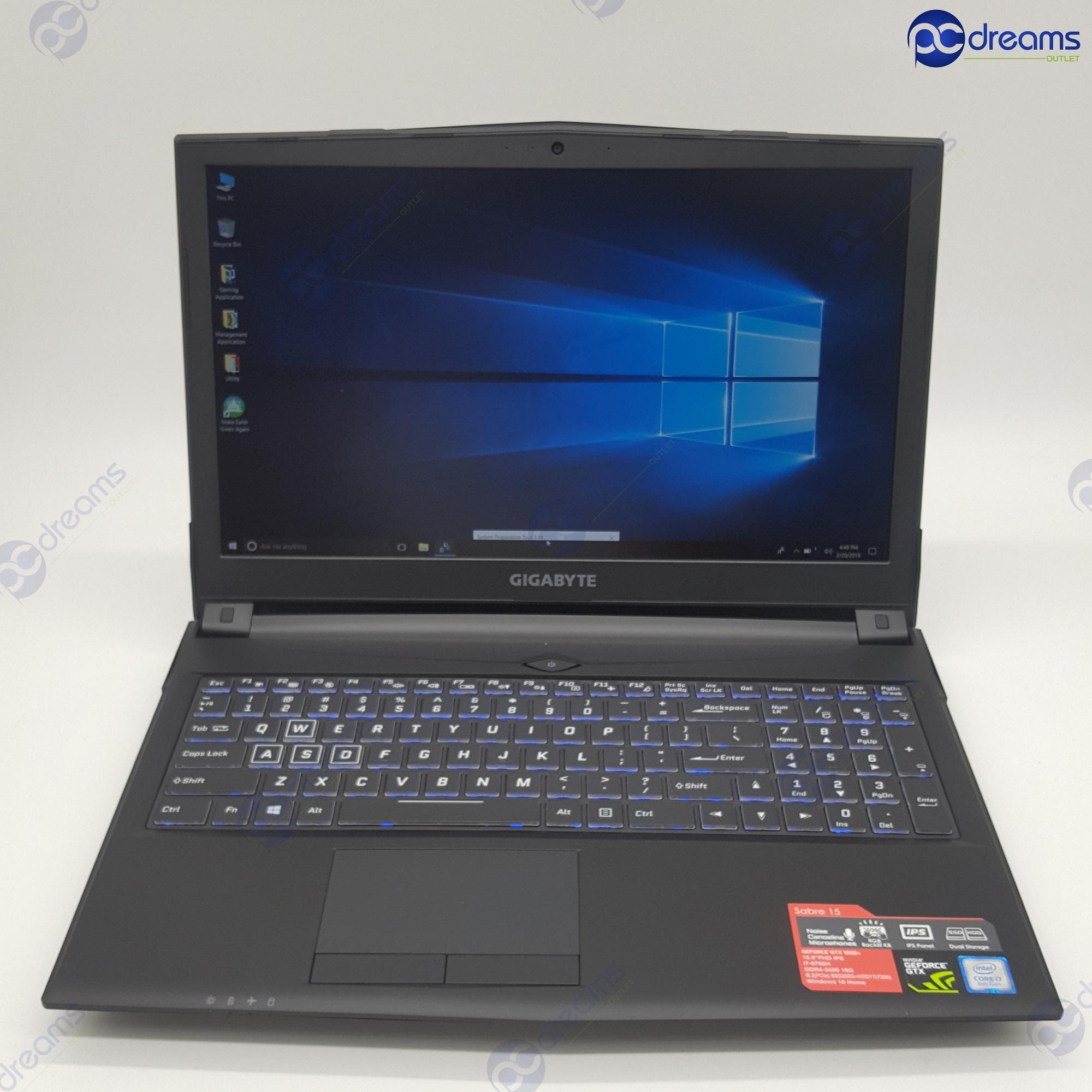 GIGABYTE SABRE 15-K8 i7-8750H/16GB/256GB PCIe SSD+1TB HDD/GTX1050Ti [Premium Refreshed]