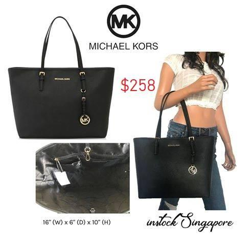 d217861c24a5 MICHAEL Michael Kors Jet Set Travel open top Tote saffiano