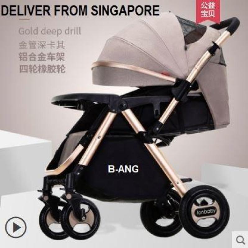 ML Baby stroller TON Baby - B-ANG front/back facing foldable compact heavy duty lay flat Singapore