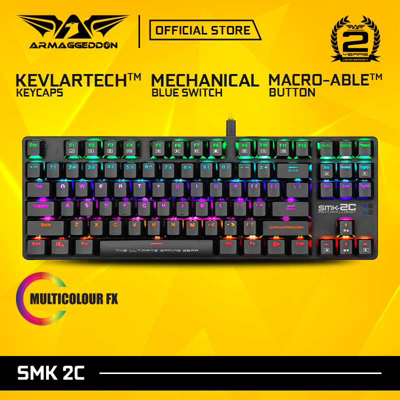 Armaggeddon SMK-2C PsychFalconet Hyperactive Low Profile Detachable Mechanical Gaming Keyboard with 9 Backlight Effects Singapore